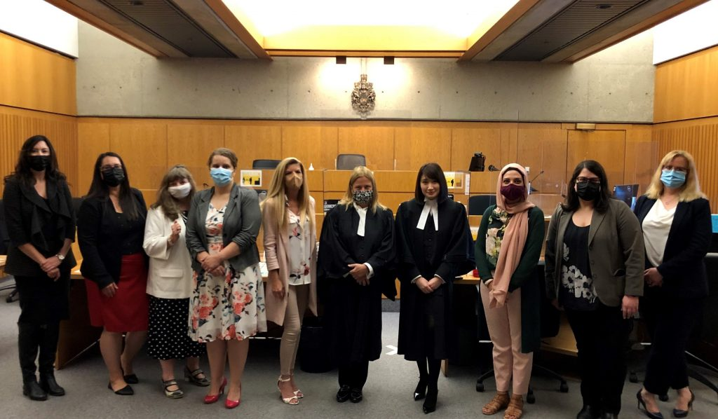 Desiree Syroid was supported by a formidable team of LAA lawyers as she was called to the bar Aug. 16.